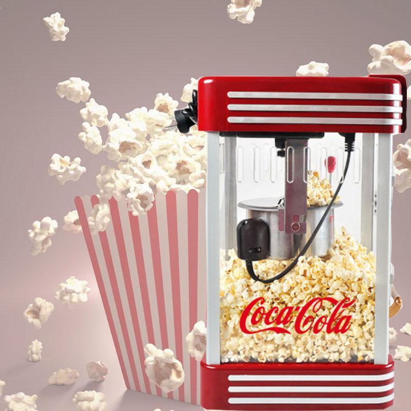 şeker yağ c ekleyebilir Tam otomatik patlamış mısır makinesi retro tarzı patlamış mısır makinesi 220v ticari mini ana elektrik küresel patlamış mısır makinesi