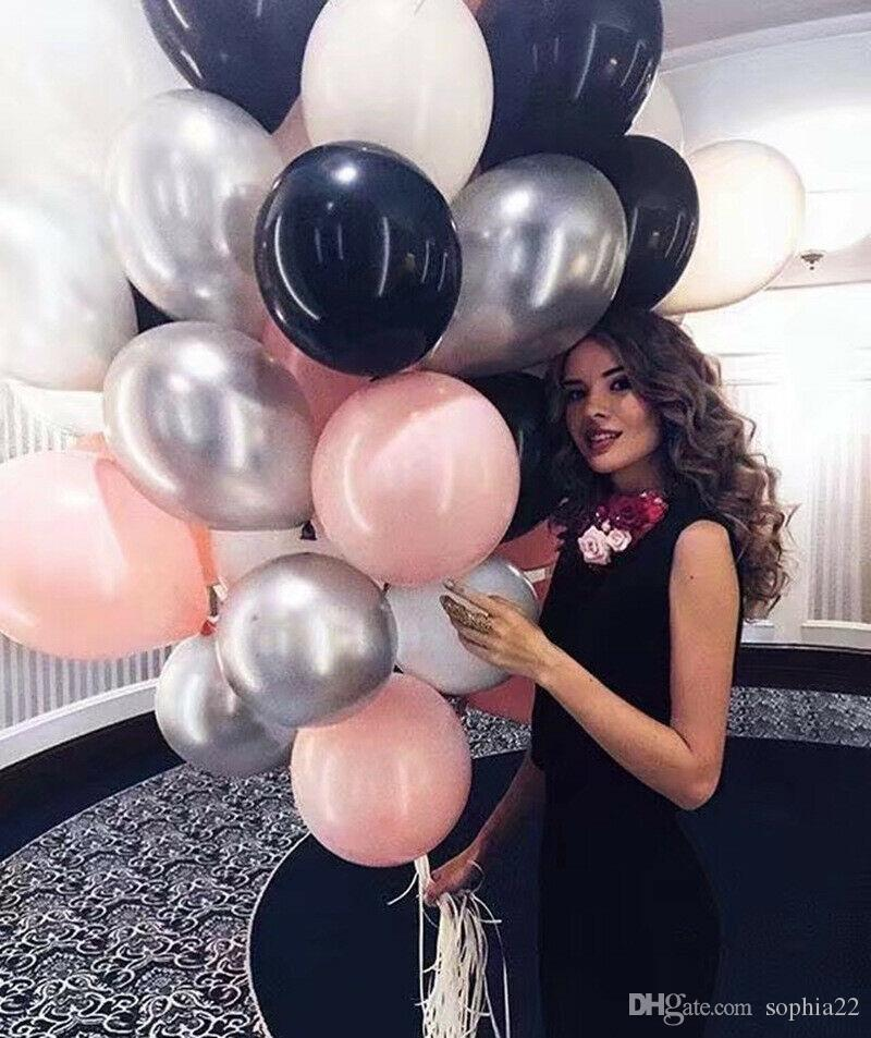 "12/"" Metallic Latex Balloons Chrome Bouquet Wedding Birthday Parties Supply UK"