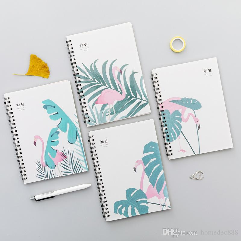 4pcs Coils Portable Notebook Mini Trumpet Pocket Notepad Spiral Travel Journal Book School Student Stationery Office Memo Pad DBC VF1497