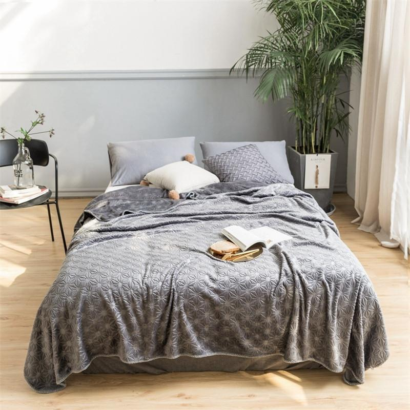 Embossed Plush Throw Blanket for Sofa, Couch or Bed Cuddly and Fluffy Lavish Soft Warm Plush Faux Fur Blanket Bed sheet Cover