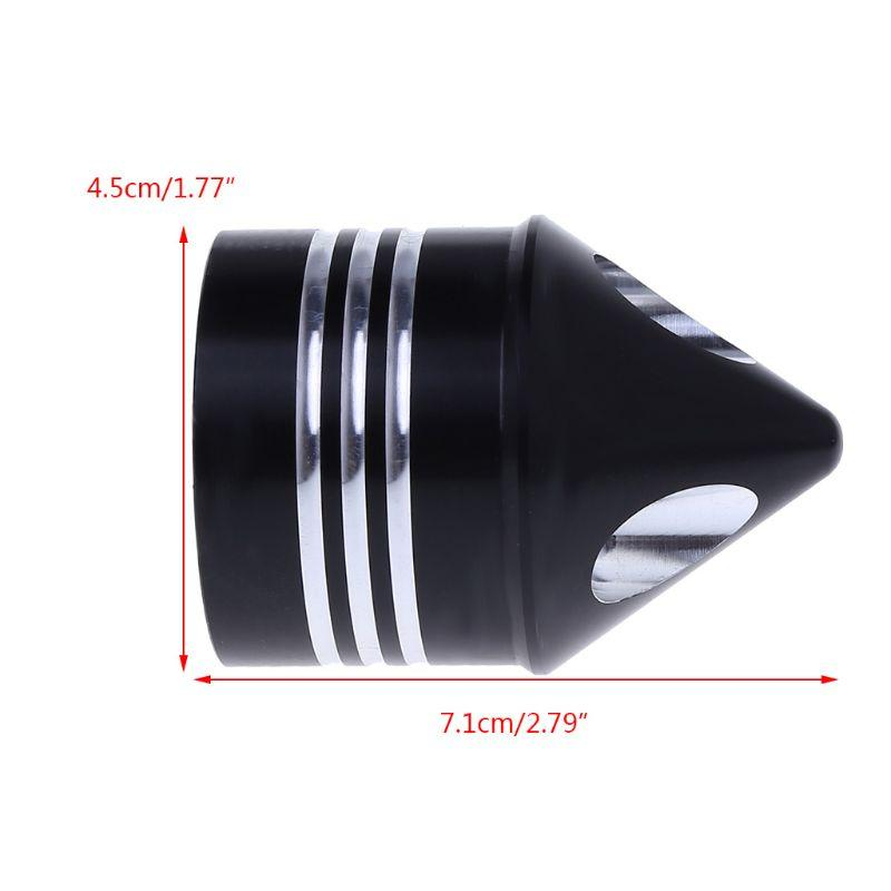 1 Pair Chrome Front Axle Nut Cover Cap for Softail Dyna V-Rod Trike Silver / Black Motorcycle Styling A6HE