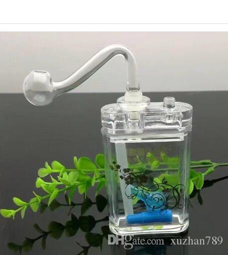 Botella de rapé de vidrio de acrílico, pipa de agua al por mayor, pipas de quemador de aceite Tubos de agua Tubería de vidrio Plataformas de aceite que fuman Envío gratis