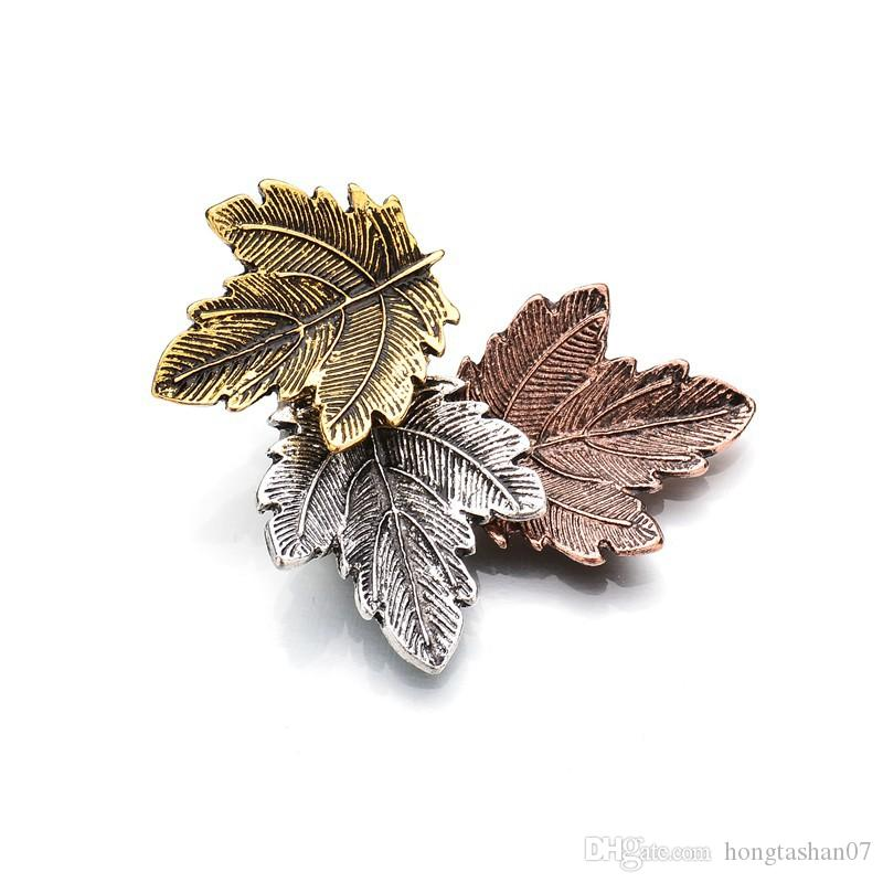 Vintage Broches Mujer Pin Leaf Brooch Gold Color Brooches Pins Exquisite Collar For Women Dance Party Accessories b74