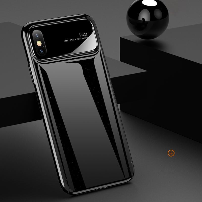 RZP lusso custodia protettiva per iPhone Case X vetro temperato + PC della copertura posteriore del paraurti On The per Apple iPhone X 10 casi Borse Shell