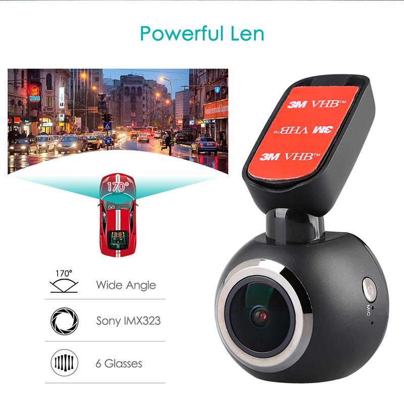 1.54 ميني واي فاي سيارة داش كاميرا داش كاميرا سيارة DVR شاشة LCD 1080P فيديو ومسجلات GPS المسجل للرؤية الليلية التحكم عن بعد DVR
