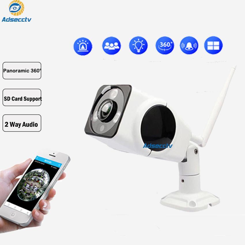 HD 960P Wi-Fi IP-камера Открытый 360 градусов Рыбий камеры безопасности 1.3MP P2P ИК сети водонепроницаемый ИК Цилиндрическая камера AS-IP8313W
