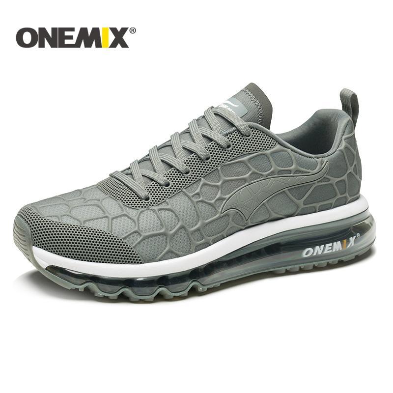 ONEMIX carretera que cojín de aire zapatillas de deporte de los hombres zapatos para caminar al aire libre los hombres caminadora Zapatos de las mujeres de los hombres corrientes sheos tenis