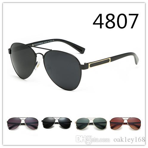 جديد مصمم النظارات الشمسية 4807 موضة نظارات شمسية للرجال كلاسيك الأعمال الضفدع مرآة نظارات شمسية uv400 عدسة للجنسين