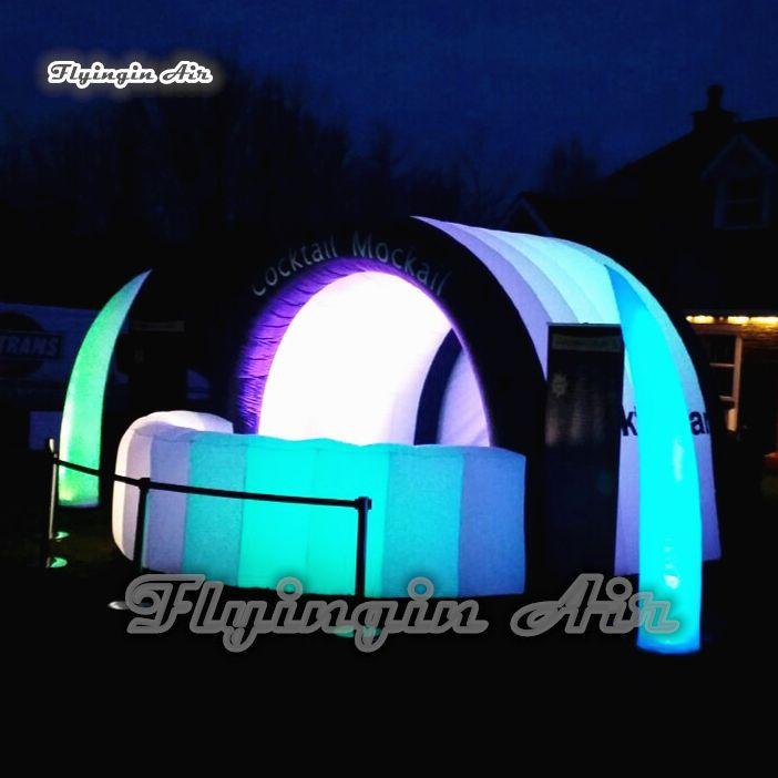 Индивидуальные рекламные надувные коктеильные бар 5 м Длина освещенного взорвании палатки для ночного клуба партии и украшения паба