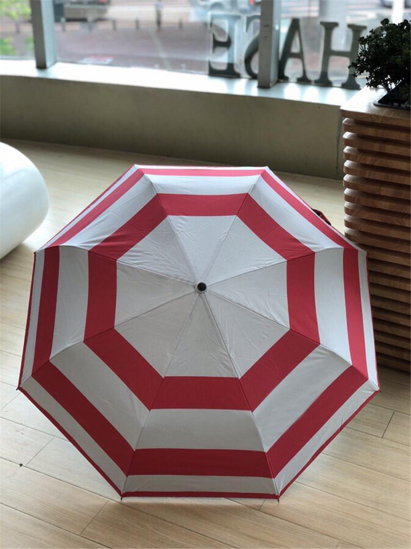 Rua Stripes-chuvas com caixa automática Folding Sun Guarda-chuvas ao ar livre Caminhada Viagens Camping Must-chuvas grátis