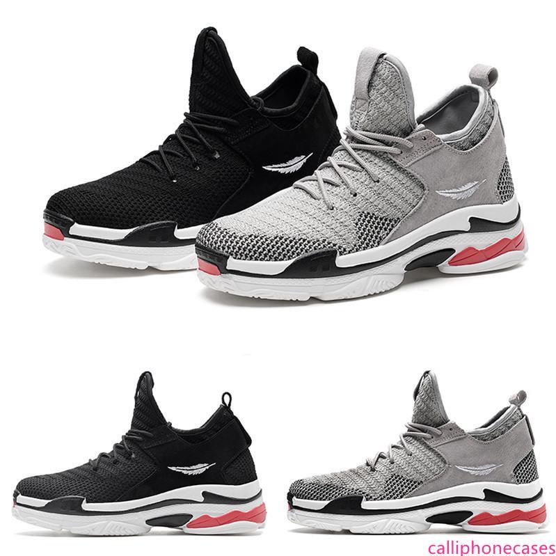 2020 shop01 transporte da gota sneaker quente type6 macio preto vermelho almofada rendas menino homens brancos Running Shoes formadores Designer Sneakers Desporto
