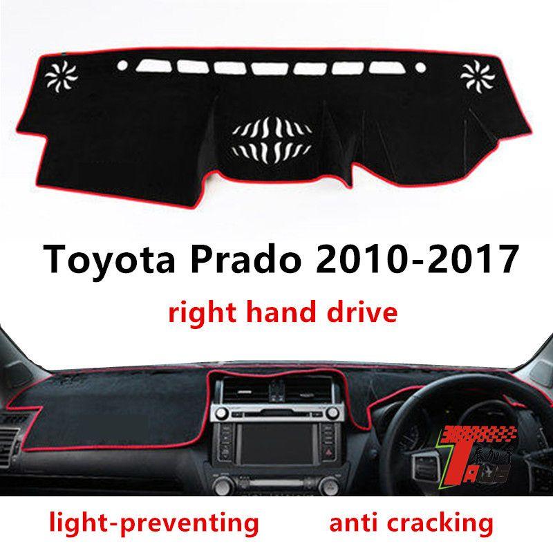 Taijs cubierta salpicadero de un coche con volante a la derecha de Prado 2010-2017 protectora de fibra de poliéster estera salpicadero de un coche de Prado
