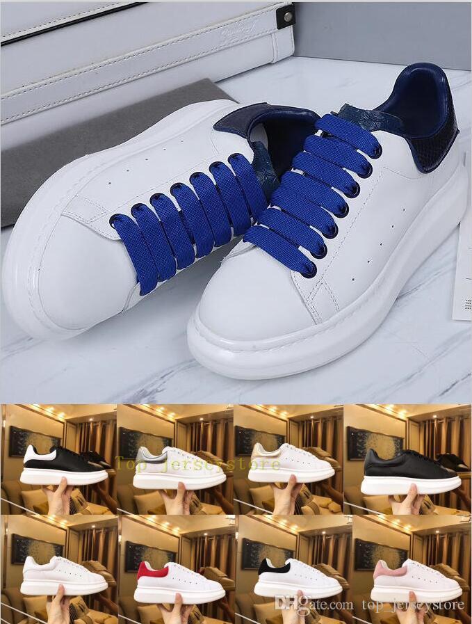 Com Box Triplo forma das mulheres dos homens de Luxo sapatos de plataforma plana Lady Casual Walking Casual Sneakers Luminous fluorescentes brancas Sapatos de couro