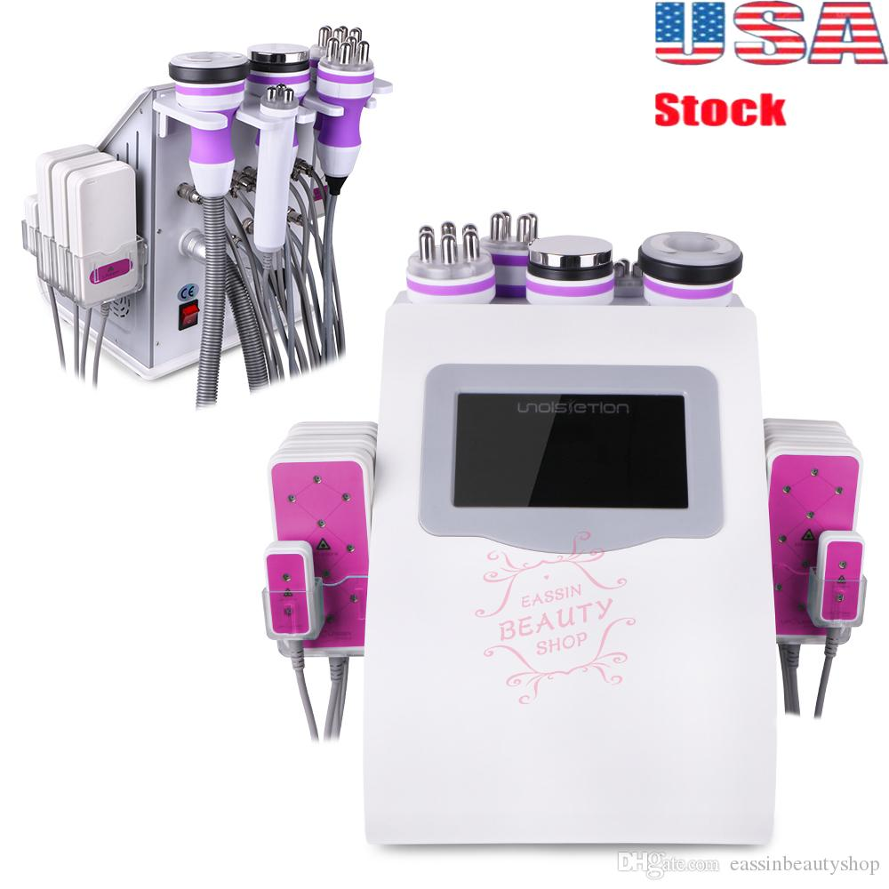 2019 6 in 1 Ultraschall Kavitation Radio Frequency dünne Maschine Vakuum-Körperfett-Brenner Body Sculpture Beauty Skin Rejuvenation Spa