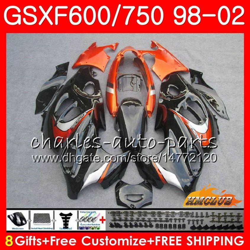 Cuerpo para Suzuki Katana GSX600F GSXF750 1998 1999 2000 2001 2002 2HC.33 GSXF 750 600 GSX750F Naranja BLK GSXF600 98 99 00 01 02 Kit de carga