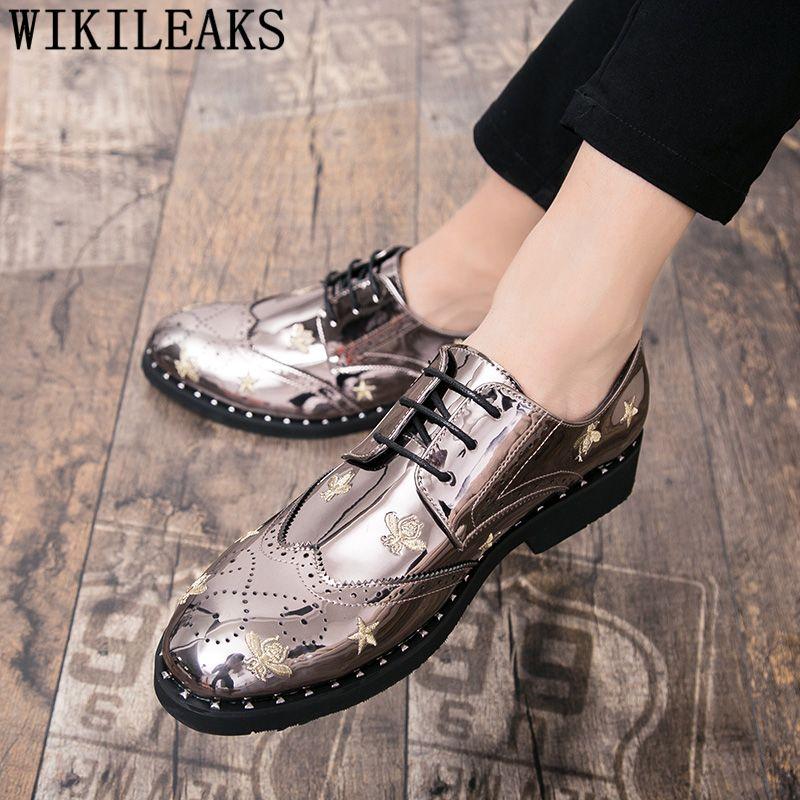 scarpe brogue uomini ricamo all'italiana scarpe da sposa uomini elegante coiffeur oxford erkek Ayakkabı