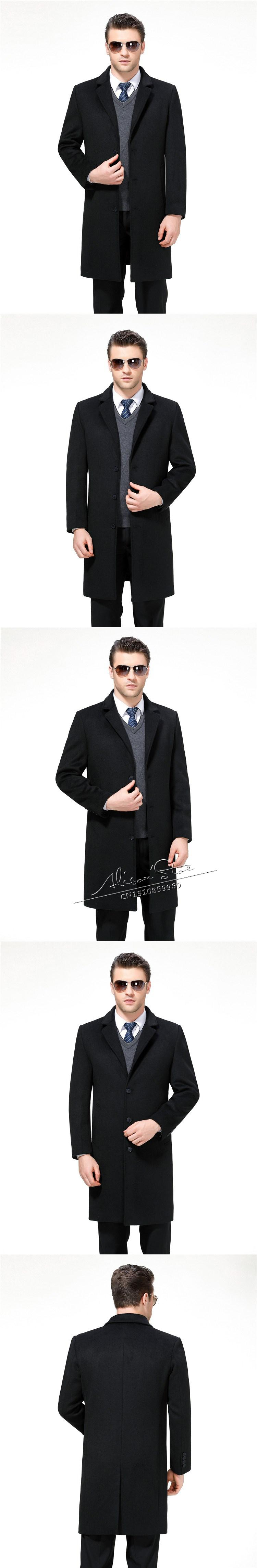 cd8dd9f1e768 2018 Mu Yuan Yang X Long Jackets &Amp; Coats Single Breasted Casual Mens  Wool Blend Jackets Full Winter For Male Wool Overcoat 3XL 4XL From Suitfit,  ...