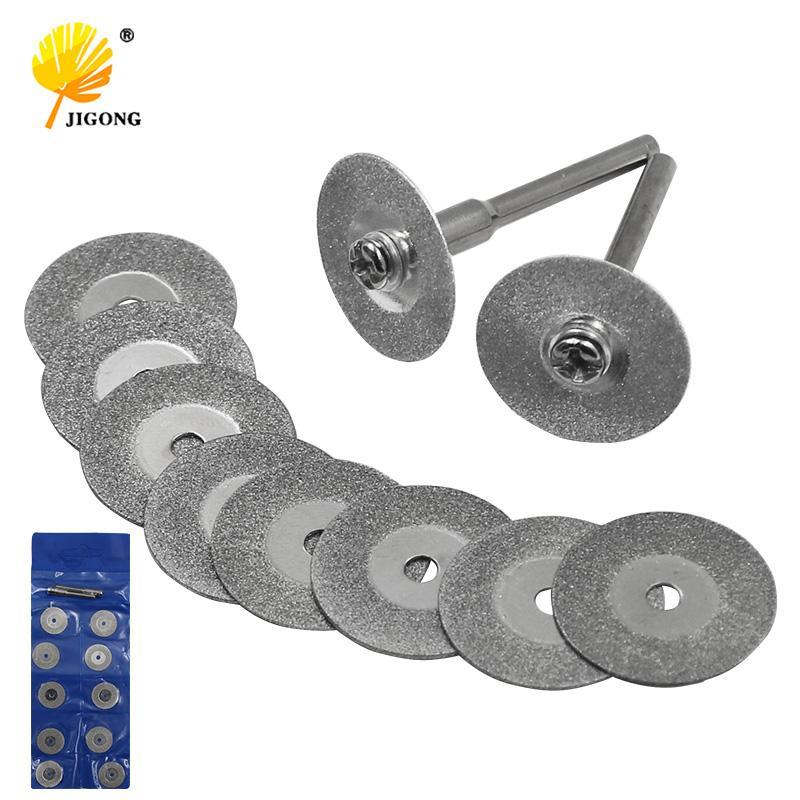 heap Abrasive Tools 10Pcs 16-50MM Mini Diamond Grinding Cutting Wheel Disc Saw Blades Sharpener Cut Off Abrasive Disks Rotary Tools for D...
