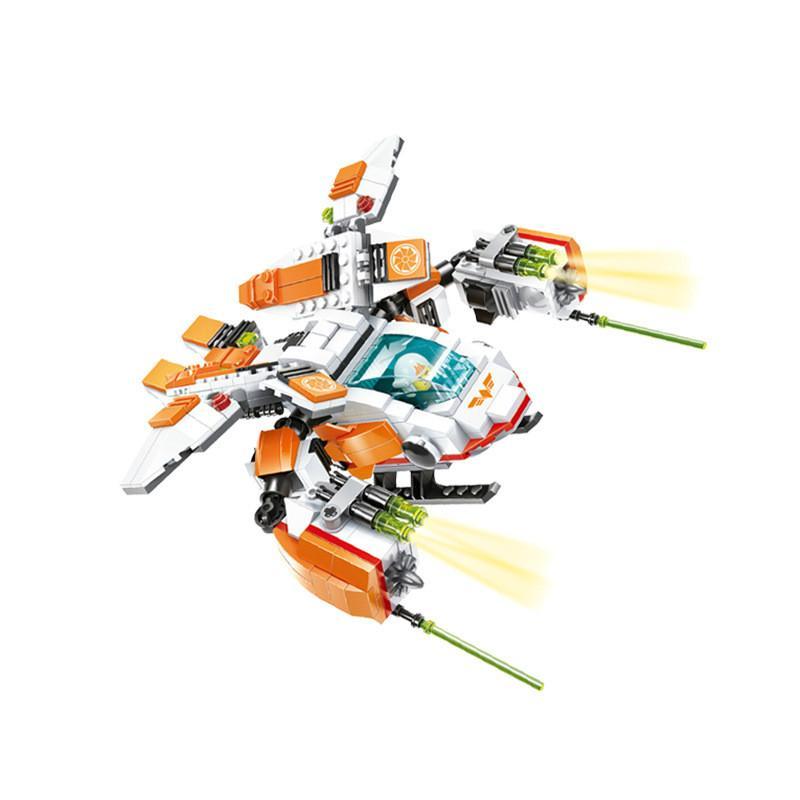 plastique jouets éducatifs pour enfants assemblage petit robot de déformation de bloc de construction de particules