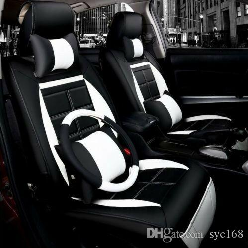 NEUES PU-Leder-Auto-Sitzkissen 11pcs / set für alle Auto + Lenkradabdeckung