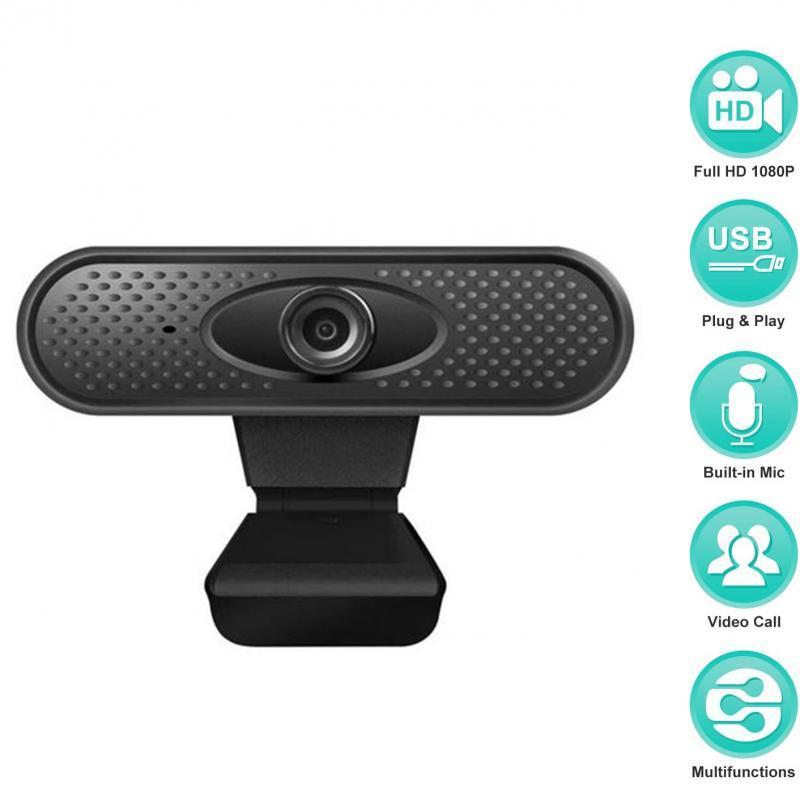 HD Webcam 1080p com Mic Clip-On PC laptop desktop computador USB 2.0 webcams câmeras web câmera 360 graus