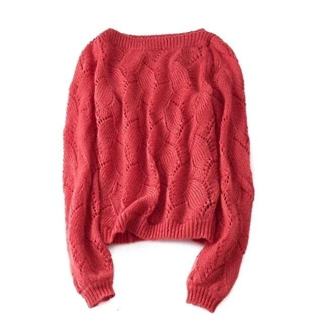 Otoño invierno de las mujeres suéteres de estilo francés de manga larga de cultivos informal suéter delgado suave de punto jersey de los puentes mujer TopMX190926