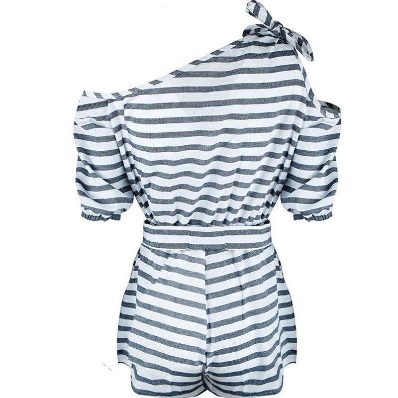 general3 Women Short Sleeve Rompers Casual Jumpsuit Beach Siamese Mini Jumpsuis