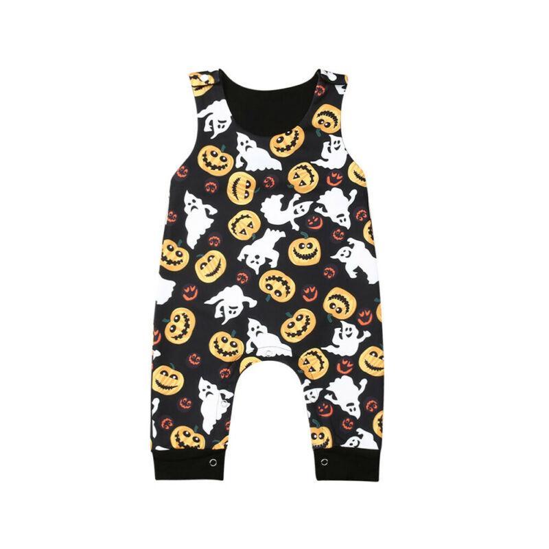 Emmababy Yenidoğan Bebek Erkek Kız Giyim Tulum Romper Pantolon Cadılar Bayramı Kıyafetler