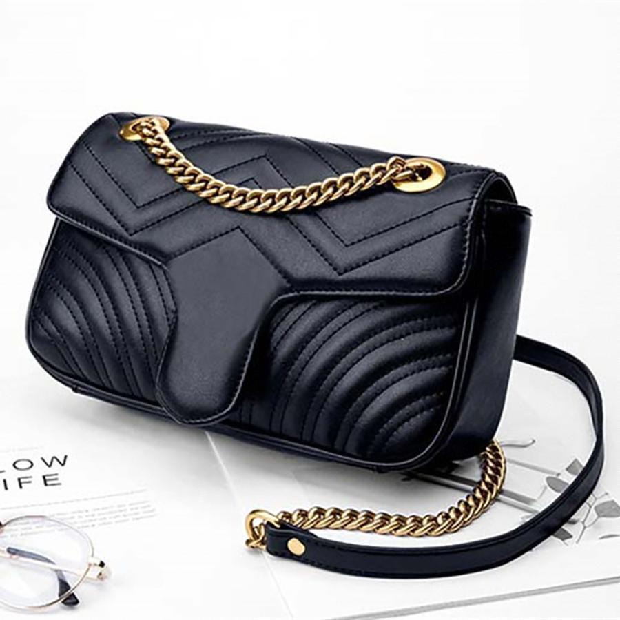 2020 bolsos de hombro bolsos de diseño para mujer diseñador de bolsos de lujo monederos bolso de cuero cartera bolso de hombro embrague solapa bags210f#