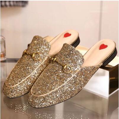 mocassini da uomo in pelle di lusso Muller Designer pantofola scarpe da uomo con fibbia Moda Uomo Princetown Pistoni del Brown casual Mules Flats 38-46 c01