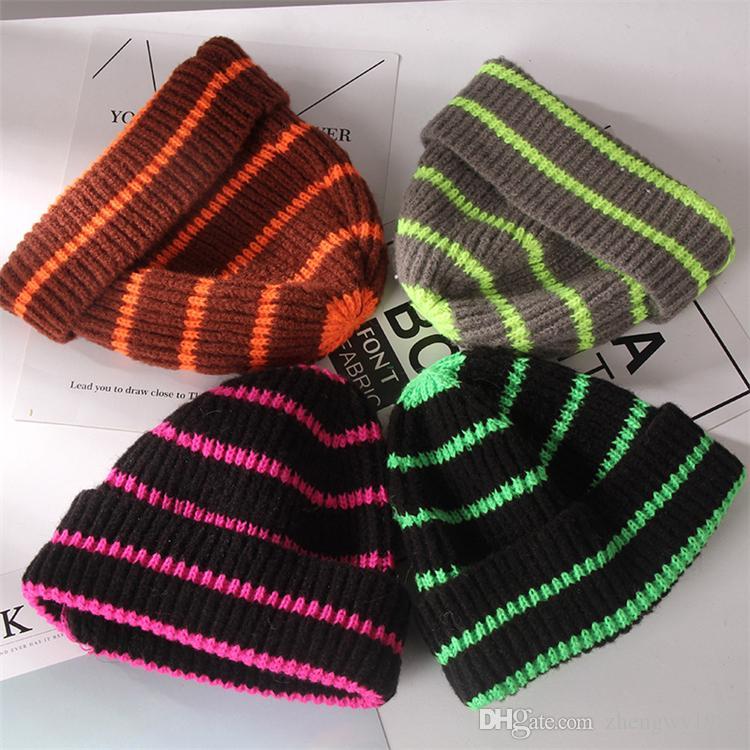 Женщина нашивка Kintted Hat осень и зима теплого Открытого Hat Вязание нашивка Cap Модельер Девушка Дети Женщина Оптовая ZFJ666