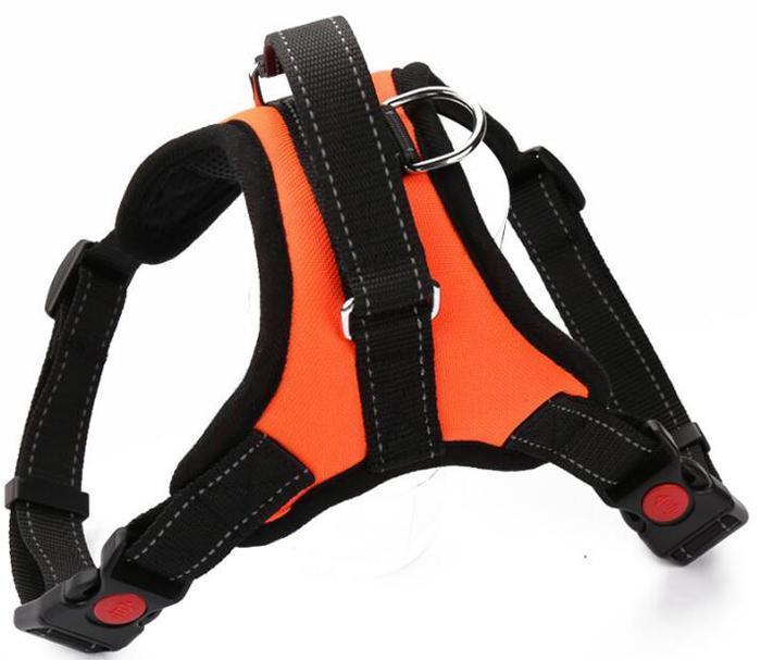 Harness No yelek Pet Köpek Büyük XL büyük Köpek Harness Kumaş Göğüs Kayışı 01 Ayarlanabilir Küçük Orta Pull