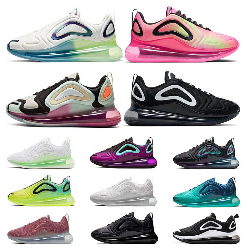 Tenis NIKE AIR MAX 720 airmax Zapatos Stock x zapatillas de diseñador Mens Trainers Running Shoes Triple White Laser Pink Black Gym Red Wolf Grey Womens Designer Sports Sneakers