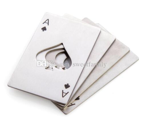 100 pcs Cartão de Jogo Ás de Espadas Poker Bar Ferramenta Garrafa De Refrigerante Cap Beer Abridor de Presente
