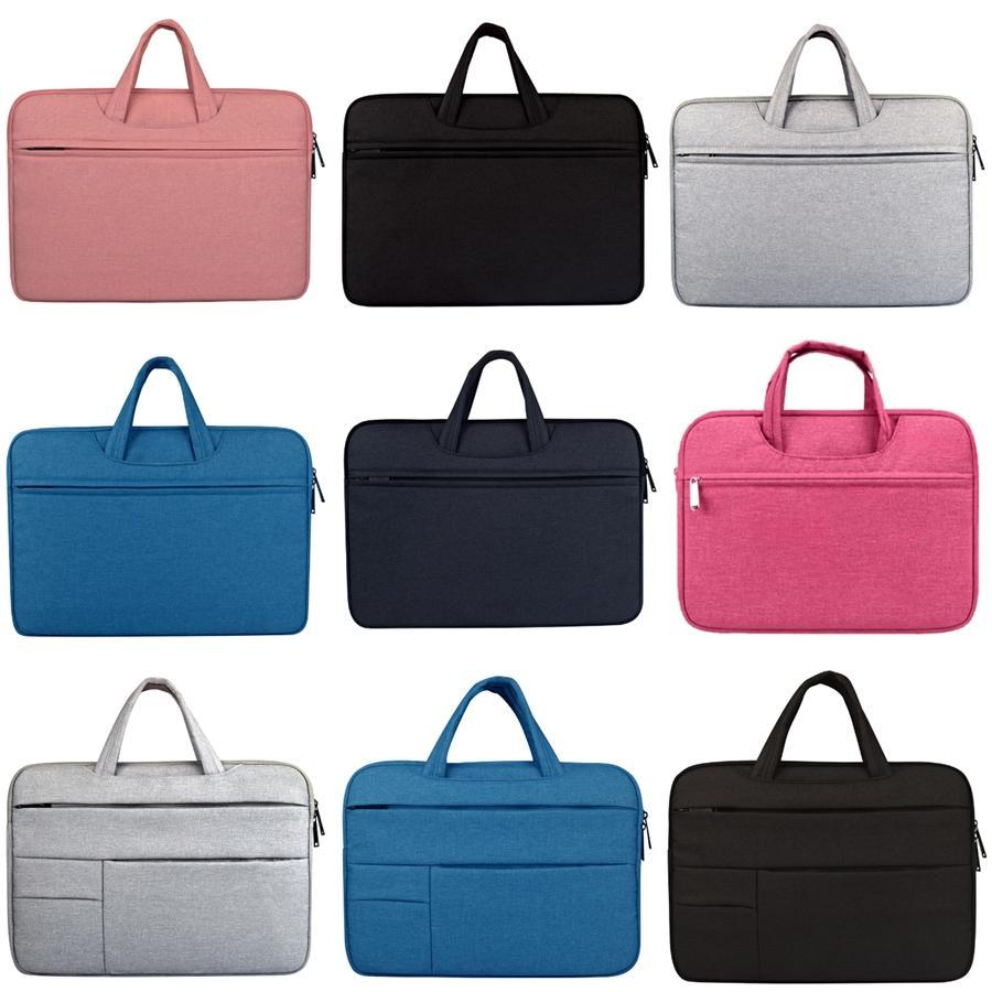 Nuovo gruppo Messenger Bags impermeabile portatile portatile borsa della cartella del Travel Uomini spalla dell'annata 15,6 pollici borsa per Macbook Y19051802 # 121