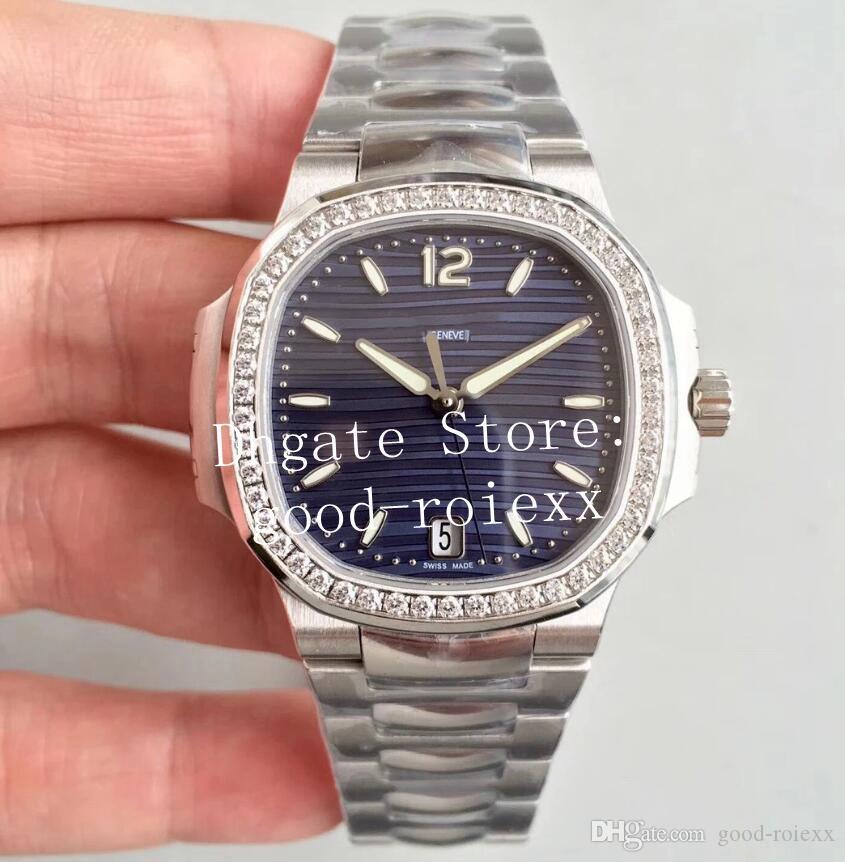Automatic Cal.324 Assista Branco Azul luxo Grey 35,2 milímetros moldura de Mulheres Diamante Ladies PF Fábrica 7118 1200A Eta Miyota relógios