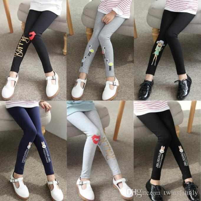 Girls Leggings Pantyhose Baby Clothes Kids Embroidered Dance Tights Toddler Cotton Cartoon Pants Trousers Causal Trousers Stockings C7220