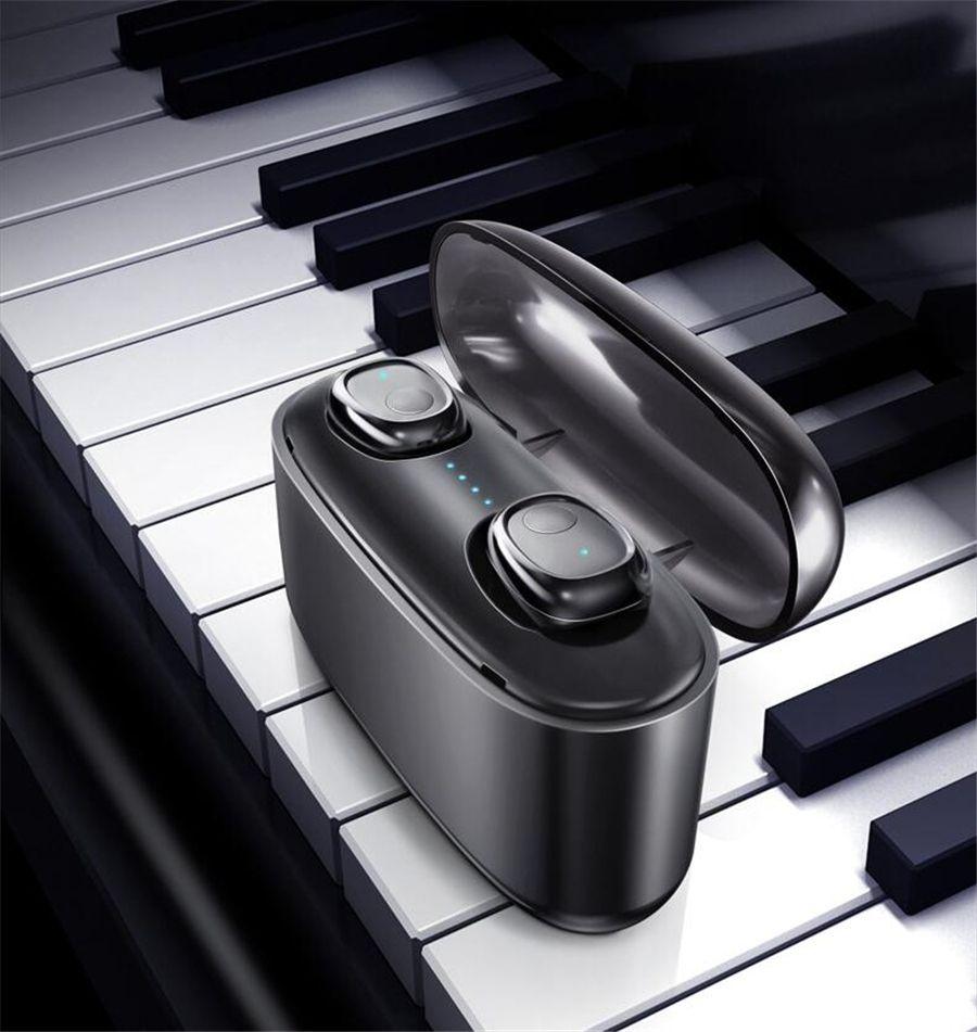 Ti8s Bluetooth 5.0 auriculares TWS auricular inalámbrico en la oreja los auriculares manos libres deportes con micrófono de carga Box 2020 Nuevo # OU561