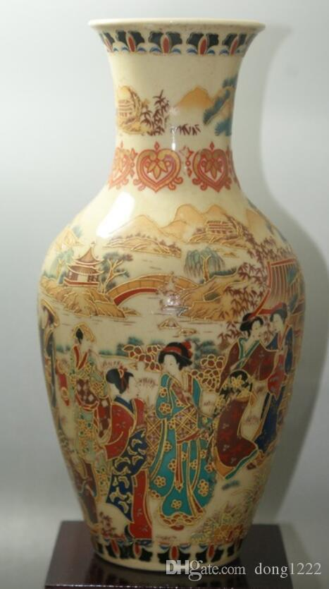 Fine Old China porcelain painted Old Glaze porcelain Vases Collectible porcelain Vases