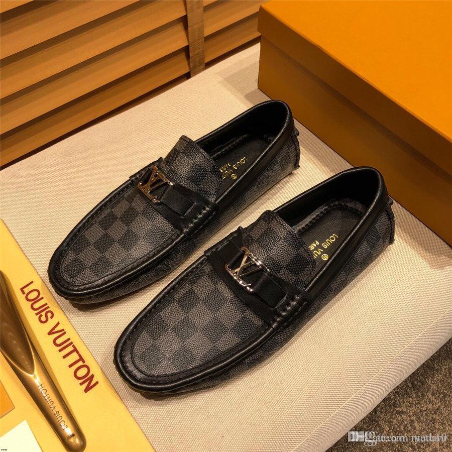 20mm Markalar Moda Yaz Stili Yumuşak Makosenler MAN Loafers Yüksek Kaliteli Gerçek Deri Ayakkabı MAN Flats Gommino Sürüş Ayakkabı MADAOI