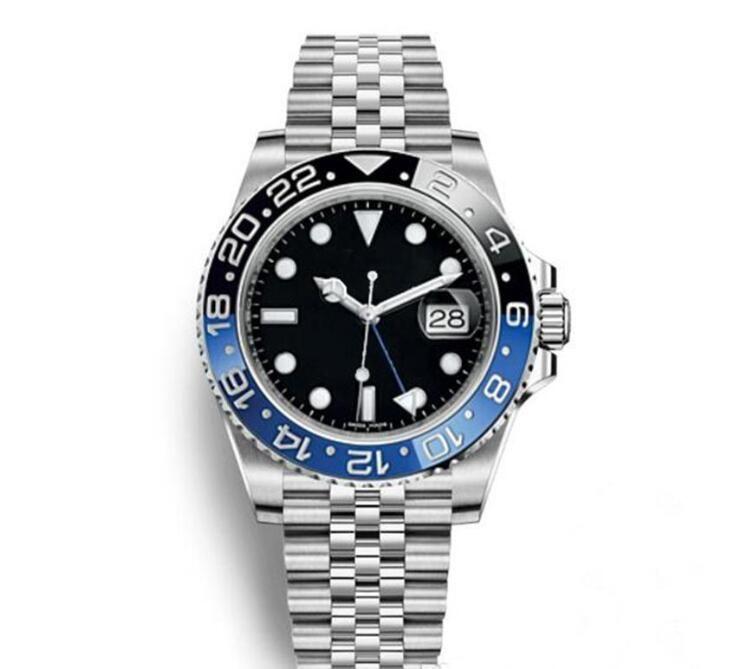 Heiße Verkaufs-Qualitäts-Männer 3866 Automatik-Uhrwerk 116710 GMT Batman Ceramic Sapphire Dial Master 2 Jubilee-Armband-Uhr Herren-Uhren Reloj