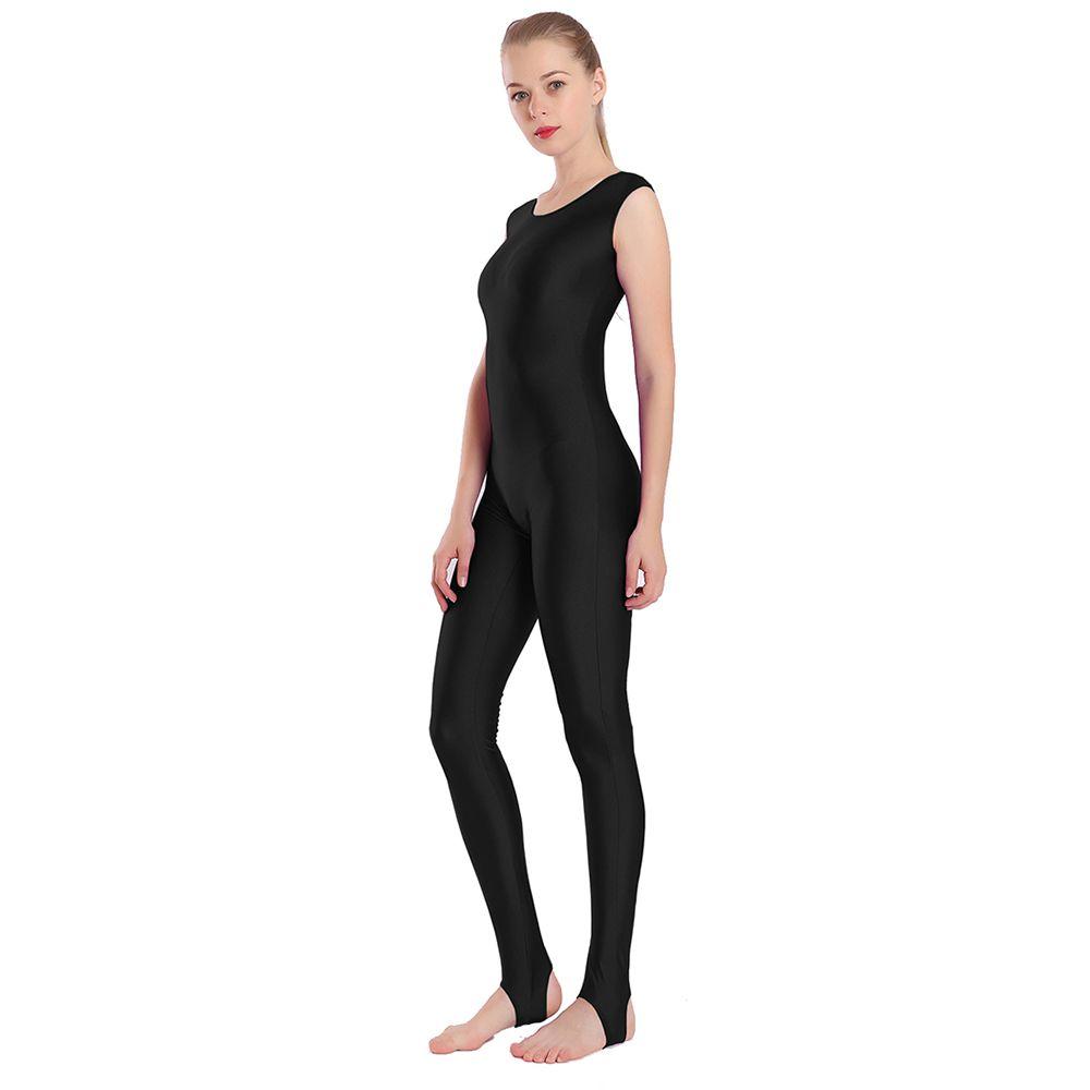 Femmes Lycra réservoir Stirrup Unitard Spandex long Wear Danse Bodysuit Unitards Ballet Danvewear Bodys Costume de gymnastique costume de yoga