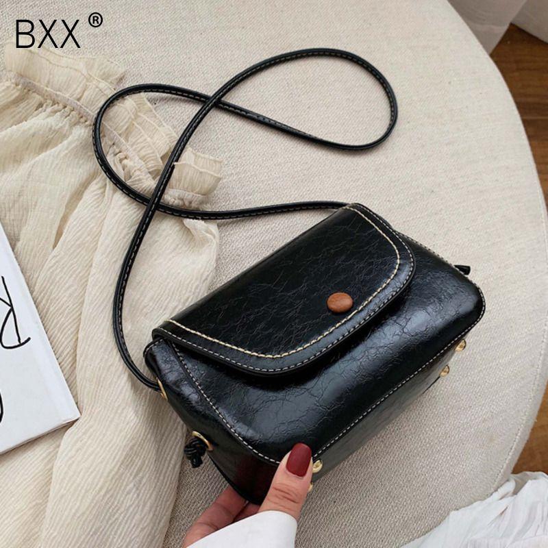 [BXX] pequeno PU bolsas de couro Bandoleira para as Mulheres 2020 Primavera New All-jogo Ombro Messenger Bags Feminino de viagem Bolsas HL389
