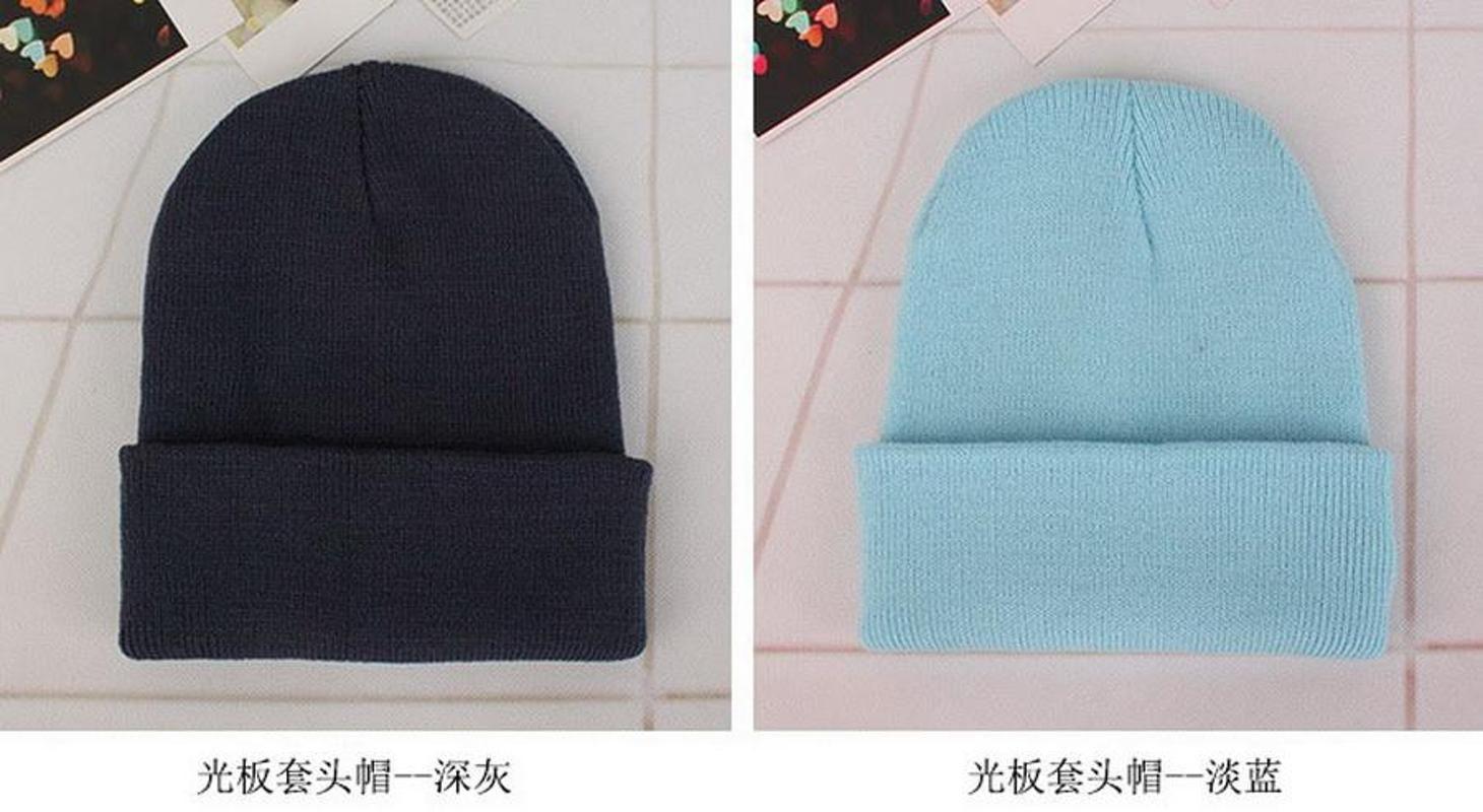 100pcs Kids/Adults Winter Hat Baby Soft Warm Cap Crochet Elasticity Knit Hats Children/Adult Casual Ear Warmer Cap