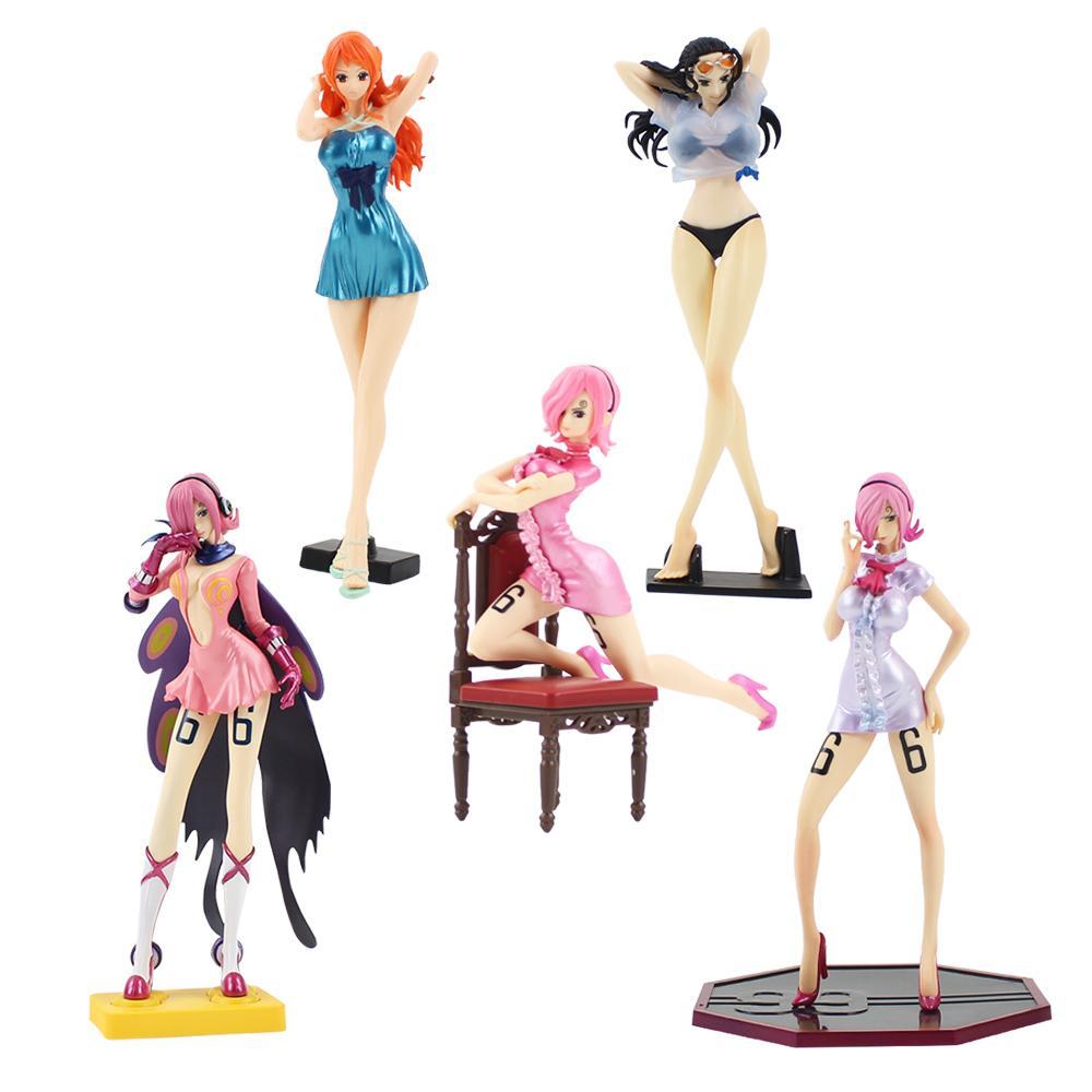 14-24см аниме One Piece Vinsmoke Reiju Нами носит платье Нико Робин носит купальный костюм сексуальный женский рисунок модель игрушки коллекция