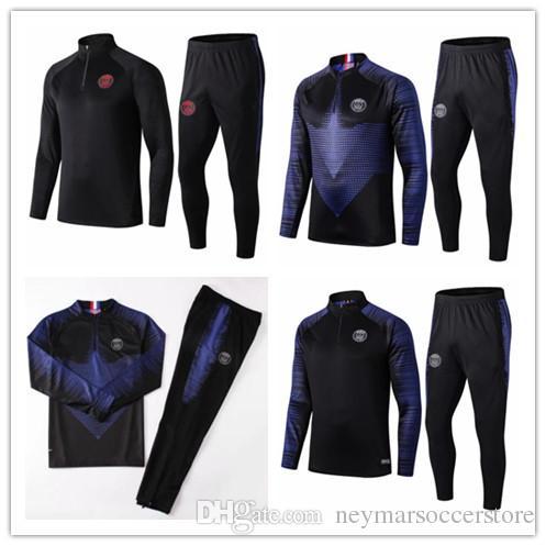 2019 2020 PSG MBAPPE Survetement soccer jacket training suit 19 20 Paris soccer jogging maillot de football tracksuit
