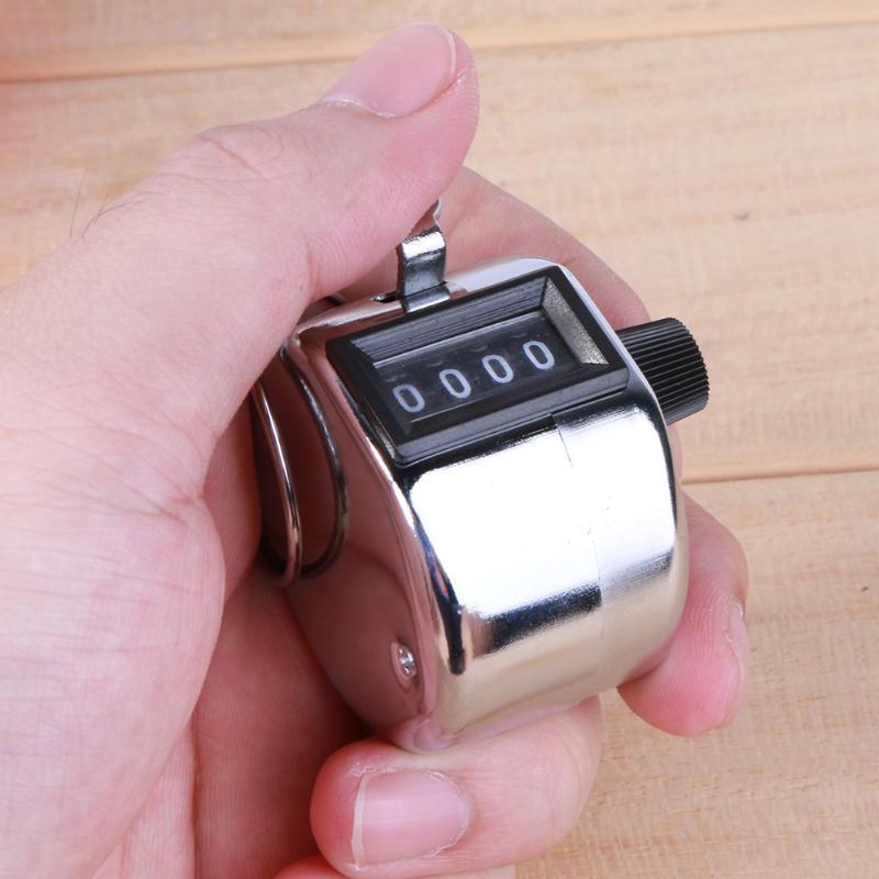 Цифровой Ручной Счетчик 4-значный номер Ручной подсчет Гольф Кликер Маленький Механический Учебный Таймер Инструменты Счетчик