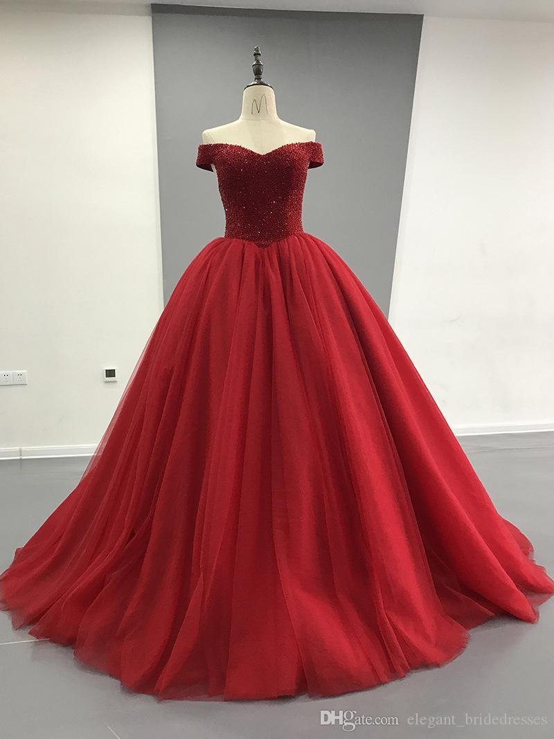 Saoudien Arabe Noir Perlé Robes De Soirée 2019 De Luxe Étincelle Cristal Tutu Robes Plus Taille Taille Robes De Soirée Abendkleider