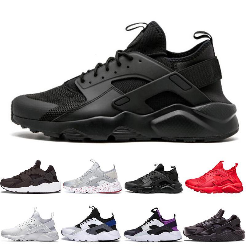 4 Hombres Mujeres Zapatos Para Correr Todo Blanco Negro Huraches Zapatos Ultra Breathe Huaraches Hombres Zapatillas Deportivas Hurache