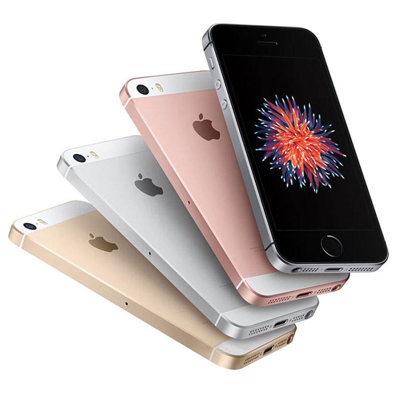 Original Refurbished Apple iPhone SE 4.0 inch A9 With Fingerprint Dual Core 2GB RAM 16/32/64GB ROM 12MP 4G LTE Smart Phone Free DHL 1pcs